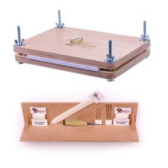 Bookbinding Super Deluxe Starter Kit with Book Press and Punching Cradle - Essential Tools for Book Binding - Bone Folder, Awl, Needles, Waxed Linen Thread, Bookbinding Press and Punching Cradle Bookbinding Tools, Homemade Books, Book Repair, Book Press, Book Binder, Buch Design, Bone Folder, Ideias Diy, Diy Notebook