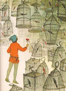 """Jorinda and Joringel"" Arienne Adams.  This is a great, little-known (in the US) Grimms tale."
