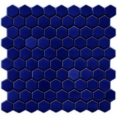 Sample Royal Blue Hexagon Wall & Floor Mosaic Tile (not Full Sheet) Blue Mosaic, Blue Tiles, Glass Mosaic Tiles, Wall Tiles, Tile Stickers Kitchen, Kitchen Tile, Tiles Direct, Hexagon Tiles, Concrete Floors