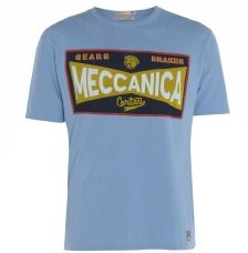 Sky Blue 'Toolbox' Cotton T-Shirt by Meccanica Cycles Best T Shirt Designs, Toolbox, Classic T Shirts, Mens Tops, How To Wear, Cotton, Clothes, Vintage, Fashion