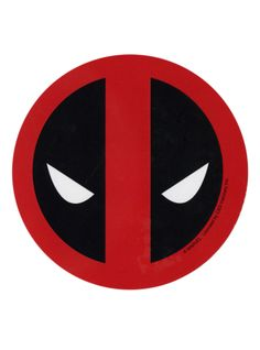 Die-cut sticker of the Deadpool mask logo.