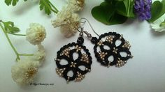 Check out this item in my Etsy shop https://www.etsy.com/listing/546685481/black-tatting-earrings-black-lace
