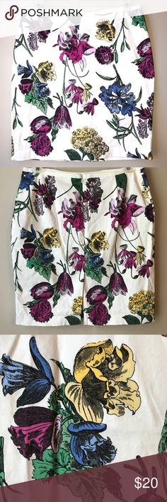 Spotted while shopping on Poshmark: Floral NY&Co pencil skirt! #poshmark #fashion #shopping #style #New York & Company #Dresses & Skirts