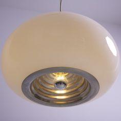 1960s Achille Castiglioni Pendant Lamp for Flos - 'Black & White'