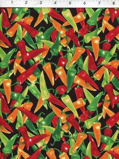 100/% Cotton Fabric Timeless Treasures Chili Pepper Spicy Spice Food