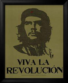 Che Guevara Viva La Revolution UN Speech Text Art Print Poster Photo at AllPosters.com