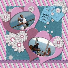 Layout made by one of the participators of the November Use it All challenge.