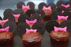 Minnie Mouse Cupcakes, cute for Kate's 1st. by Acupfullofcake, via Flickr