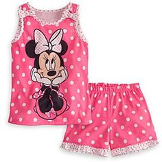 Minnie Mouse Pajamas Sleep Set for Girls Little Girl Outfits, Little Girl Fashion, Toddler Girl Outfits, Boy Outfits, Little Girls, Disney Baby Clothes, Disney Outfits, Disney Girls, Baby Disney