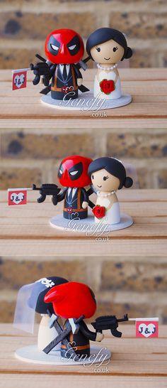 Deadpool groom and Bride by Genefy Playground https://www.facebook.com/genefyplayground