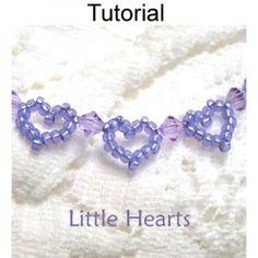 Beaded Little Hearts Bracelet PDF Beading Pattern