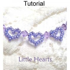 Beaded Little Hearts Bracelet PDF Beading Pattern