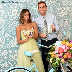 Honest Cofounders Jessica Alba & Christopher Gavigan. Love that Honest products are available at Target!!!