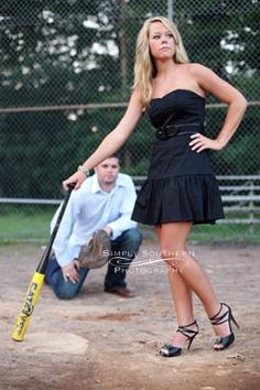 Would be an awesome senior pic idea without a catcher in the background! Prom Pictures, Dance Pictures, Couple Pictures, Senior Pictures, Graduation Pictures, Summer Pictures, Pic Pose, Picture Poses, Picture Ideas