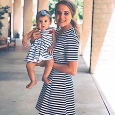 Me & My Mini-Me. 💕 I don't know about you, but I have to do the matchy-matchy thing every once in a while. Josh Duggar Family, Bates Family, Duggar Girls, Jinger Duggar, Jeremy Vuolo, Dugger Family, 19 Kids And Counting, Christian Families, Celebrity Kids