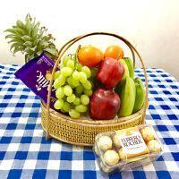 Fresh Fruit Gift Basket For Chocolate Lover