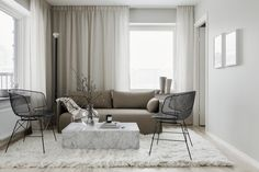 A Swedish apartment decorated in neutral tones