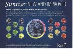 A newly enhanced formulation for Kyäni Sunrise™ was unveiled at the 2014 International Convention in Orlando, Florida. Sunrise now contains more of its key ...