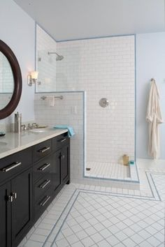 teal white tiled bathrooms | White Subway Tile Bathroom Design Ideas, Pictures, Remodel, and Decor