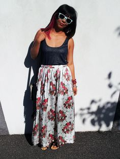DIY: silk maxi skirt
