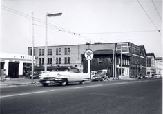 This 1960 view looks north along the west side of King Street South in Waterloo. Today's there's an LCBO store on this site. Waterloo Ontario, Texaco, Local History, Twin Cities, Gas Station, T Rex, Old Pictures, Cambridge, The Past