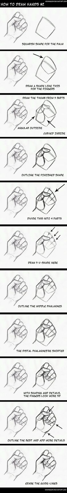 Learn How to draw hands step by step. Source: