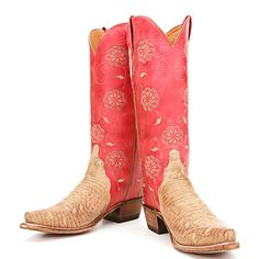 BootDaddy Collection with Lucchese Red Triad Cowgirl Boots