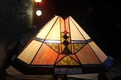 Another stained glass lampshade in our great room.  (Drake Tiffany Lamp)