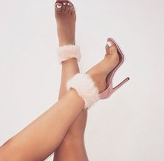 Pink Suede Clear PVC Furry Ankle Strap Heels Sandals for Work, Date, Going out Heeled Boots, Shoe Boots, Shoes Sandals, Stilettos, Pumps, Cute Heels, Ankle Strap Heels, Beautiful Shoes, Flat Shoes