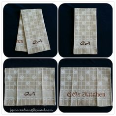 The perfect housewarming gift for a gentleman, our 2 in 1 huck hand towel! Elegant and useful! - Customized kitchen towel. #Handmade #Embroidery #Crossstitch #PersonalizedHandTowel #MonogrammedTowel