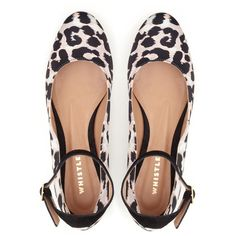 Barbara Ballet Flats (315 BRL) ❤ liked on Polyvore featuring shoes, flats, leopard print, ankle tie ballet flats, leopard print shoes, leopard print flats, leopard ballet flats and leather ballet flats