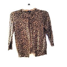 Merino Wool leopard print sweater 100% Italian Merino wool. 3/4 sleeve leopard print cardigan from Talbots. This sweater is incredibly versatile and in perfect condition! Talbots Sweaters Cardigans