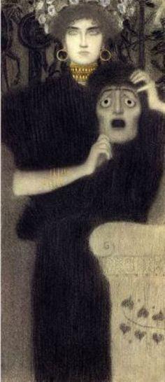 Gustav Klimt. Study for the allegory of tragedy