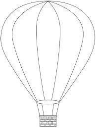 Hot Air Balloon Template FREE Printable For Preschool
