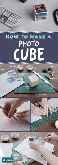 See how simple it is to create a personalized photo cube, then grab some vacation photos and craft away. It also makes a very special gift! Diy Projects To Try, Crafts To Make, Fun Crafts, Crafts For Kids, Craft Projects, Paper Crafts, Diy Christmas Gifts, Christmas Crafts, Photo Cubes