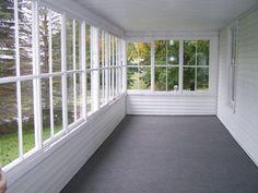 Enclosed Porch Flooring Ideas — The Latest Home Decor Ideas pertaining to Enclosed Patio Flooring Ideas Enclosed Front Porches, Screened In Porch Diy, Screened Porch Decorating, Screened Porch Designs, Enclosed Patio, Deck Decorating, Porch With Screen, Small Sunroom, Screened Gazebo