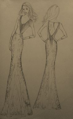Sketch for Client by Molteno Creations Dress Drawing, Sketch Drawing, Elegant Gown, Fashion Illustrations, Dream Dress, Behind The Scenes, Dreaming Of You, Gowns, Make It Yourself