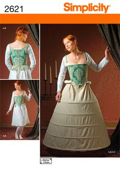 Simplicity Pattern 2621 Misses Costumes  Misses 16th Century Undergarments  Size U5 (16, 18, 20, 22, 24)