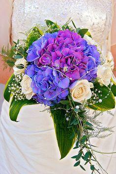 Purple Hydrangea Wedding Bouquets   Purple Hydrangea Bridal Bouquet