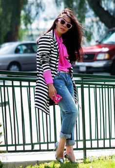 Stunning in Stripes - Street Style