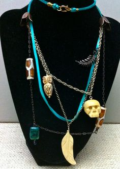 Shawman African Themed Necklace by CheekyDesignCo on Etsy, $50.00