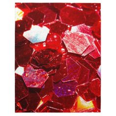 SOLD! Red #mosaic hexagon #abstract shiny glitter pattern #Puzzle by #PLdesign #GlitterCloseUp #GlitterMacro #AbstractGift