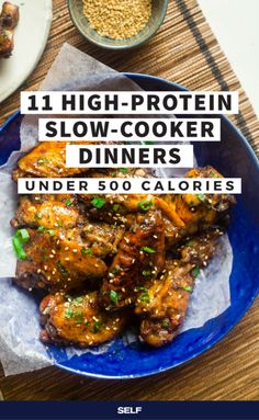 11 High-Protein Slow-Cooker Dinner Recipes Under 500 Calories | SELF Dinners Under 500 Calories, 500 Calorie Meals, No Calorie Foods, Low Calorie Recipes, Slow Carb Recipes, Low Calories, High Protein Snacks, High Protein Recipes, Healthy Recipes