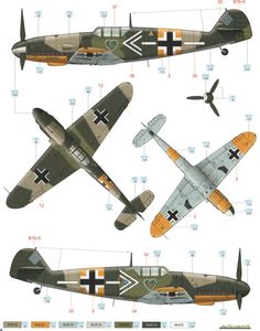 Bf 109G-2 JG 54 Color Profile and Paint Guide Added
