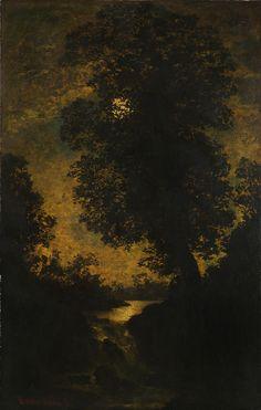 A Waterfall, Moonlight Ralph Albert Blakelock c. 1886