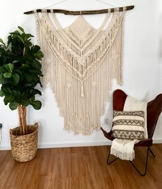 Your place to buy and sell all things handmade Macrame Wall Hanging Diy, Hanging Wall Art, Wall Hangings, Beautiful Wall, Sell On Etsy, Boho Decor, Handmade, Hand Made, Handarbeit