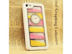 Pink + Yellow Crystals iPhone 5 Case