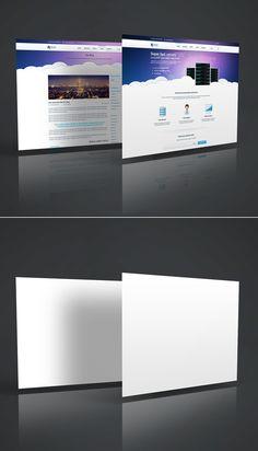 Free 3D Website Display Mockup