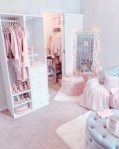 Girl Bedroom Designs, Room Ideas Bedroom, Girls Bedroom, Bedroom Decor, Rich Girl Bedroom, Pink Bedrooms, Bed Room, Cute Room Ideas, Dressing Room Design
