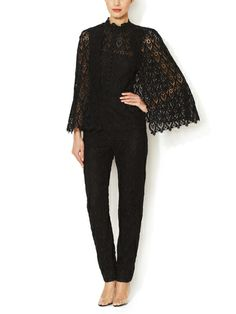 Macramé Ornamental Jumpsuit with Shawl. Because who doesn't need a Macramé Ornamental Jumpsuit with Shawl?